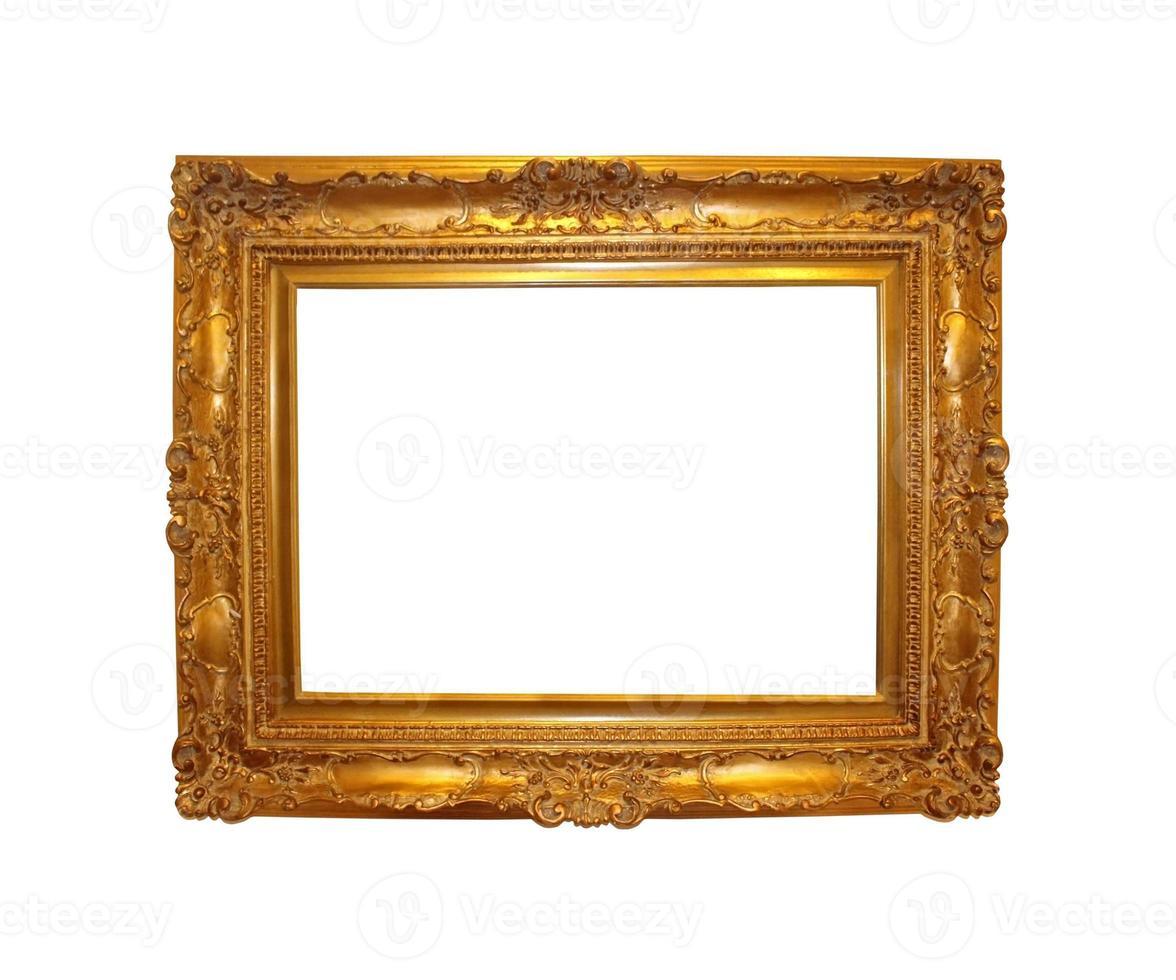 moldura dourada vintage foto