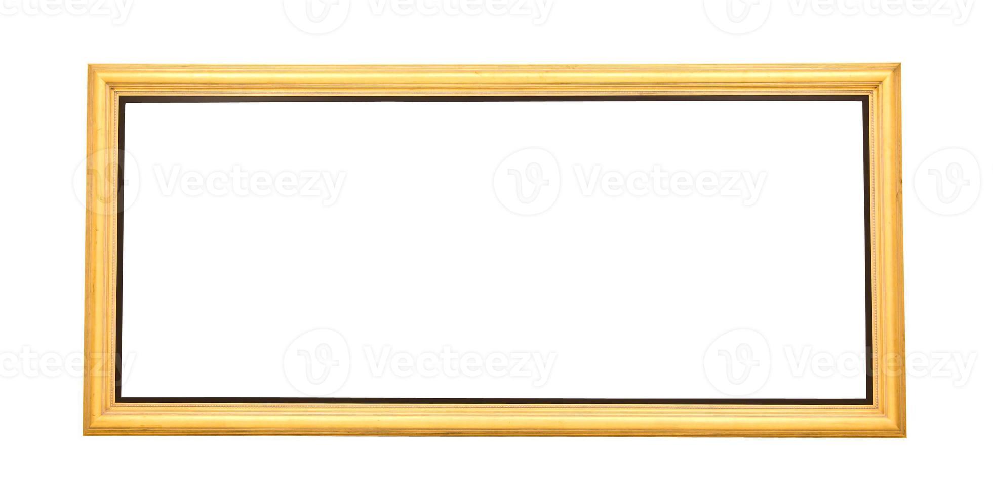 moldura de pintura dourada ampla isolada foto
