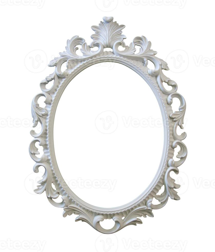 moldura vitoriana branca ornamentada com traçado de recorte foto
