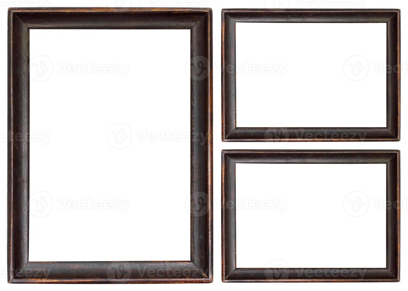 imagem de madeira isolada no branco foto