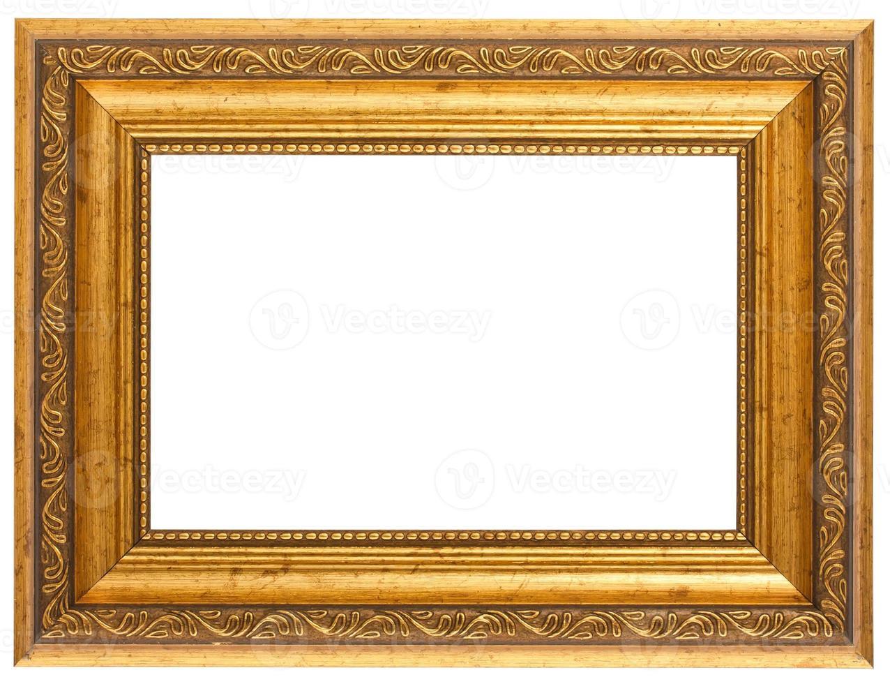 moldura antiga dourada foto