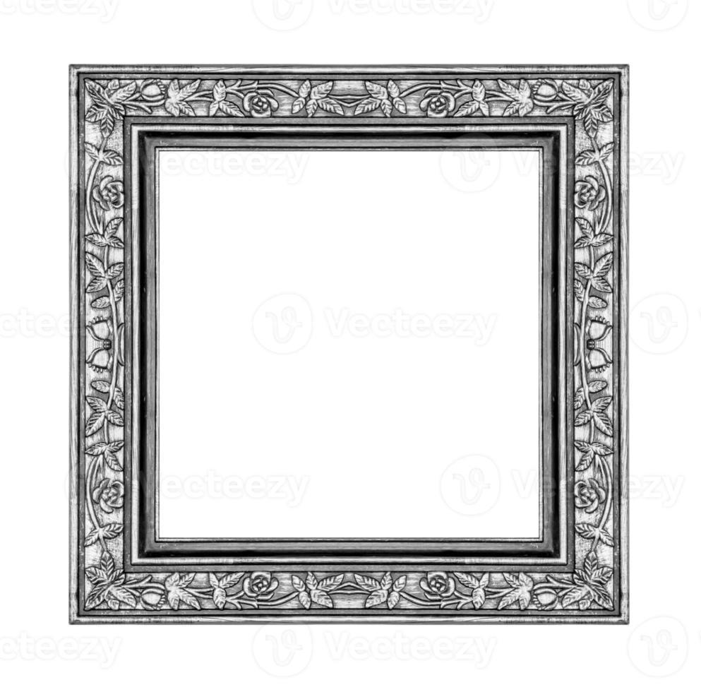 moldura cinza vintage isolada no fundo branco e traçado de recorte foto