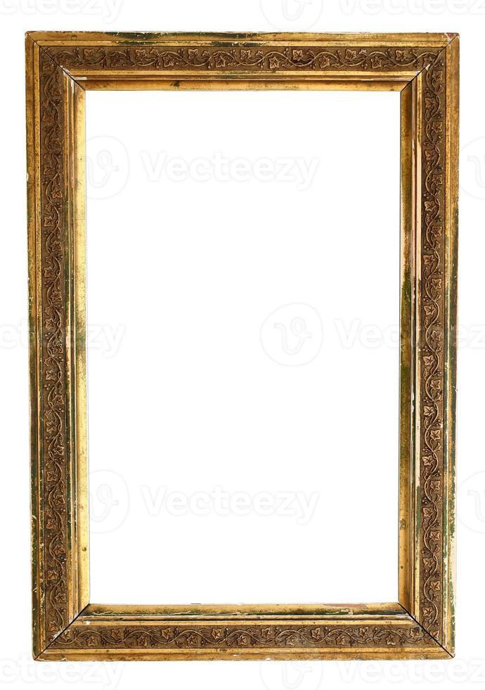 moldura dourada vazia foto