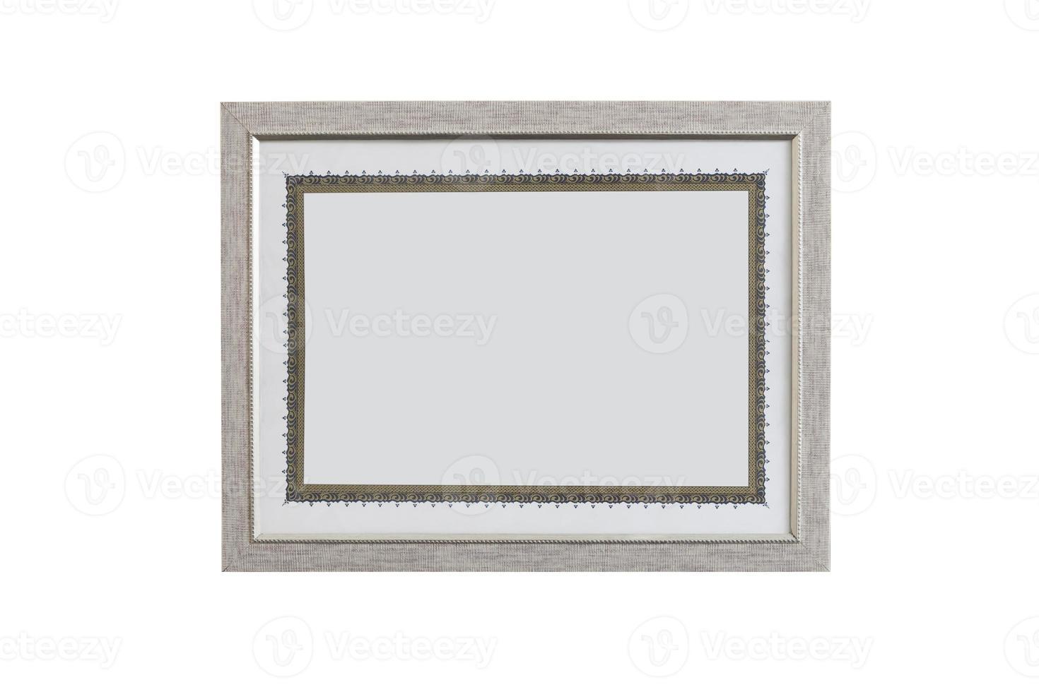 modelo de diploma em branco em um quadro (incluindo traçado de recorte) foto