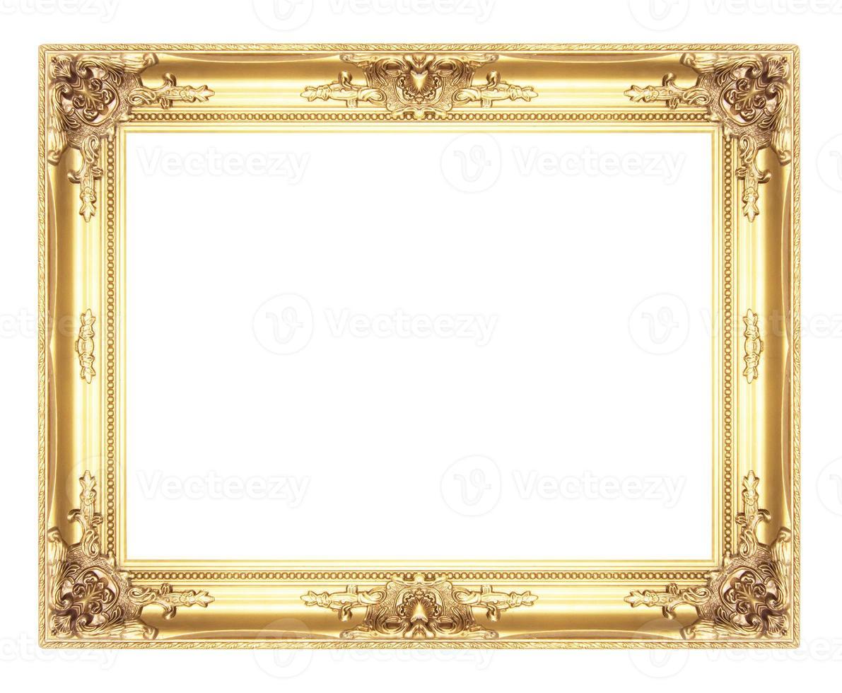 velhas molduras de ouro antigas. isolado em fundo branco foto