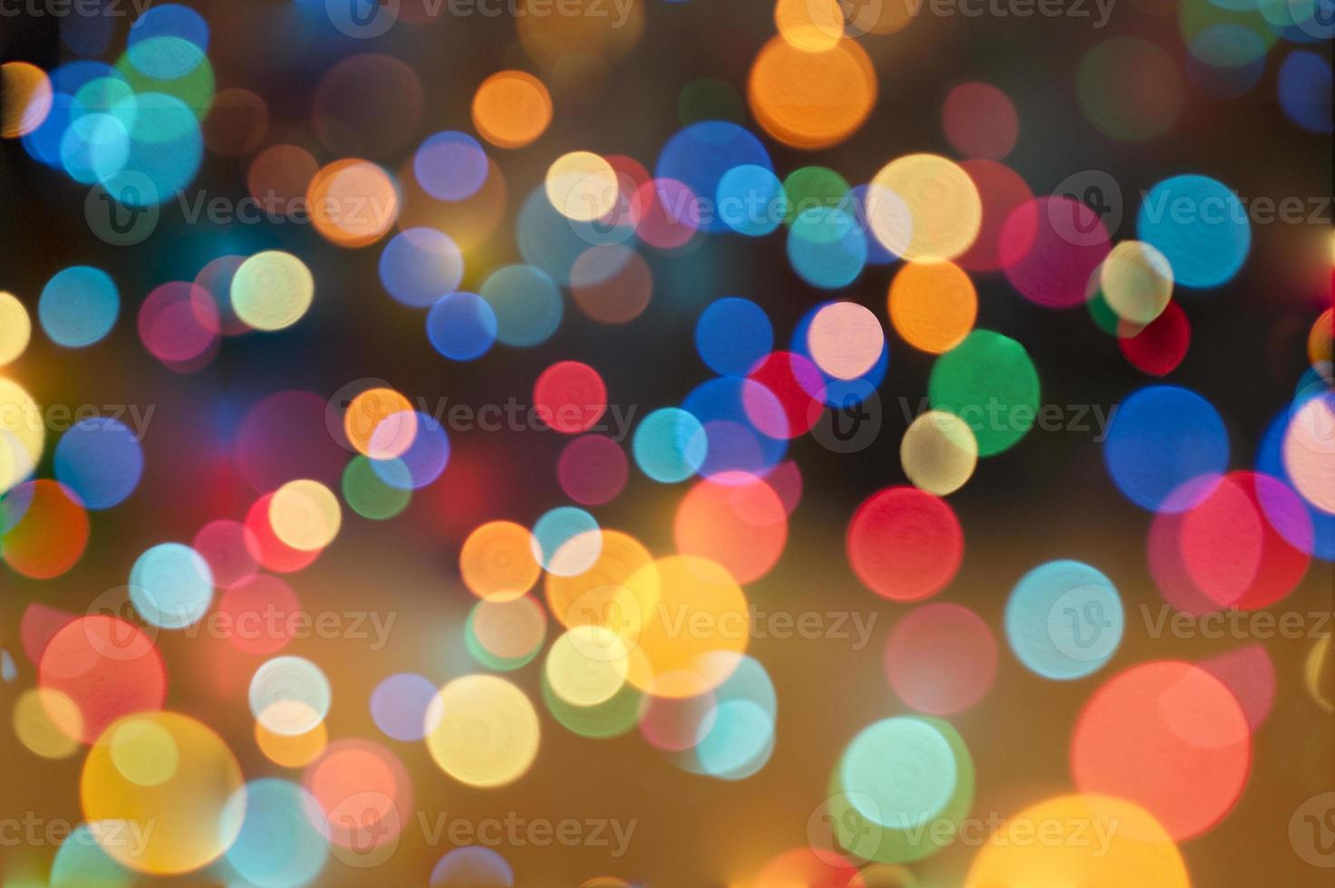 fundo abstrato circular bokeh de luzes de natal foto