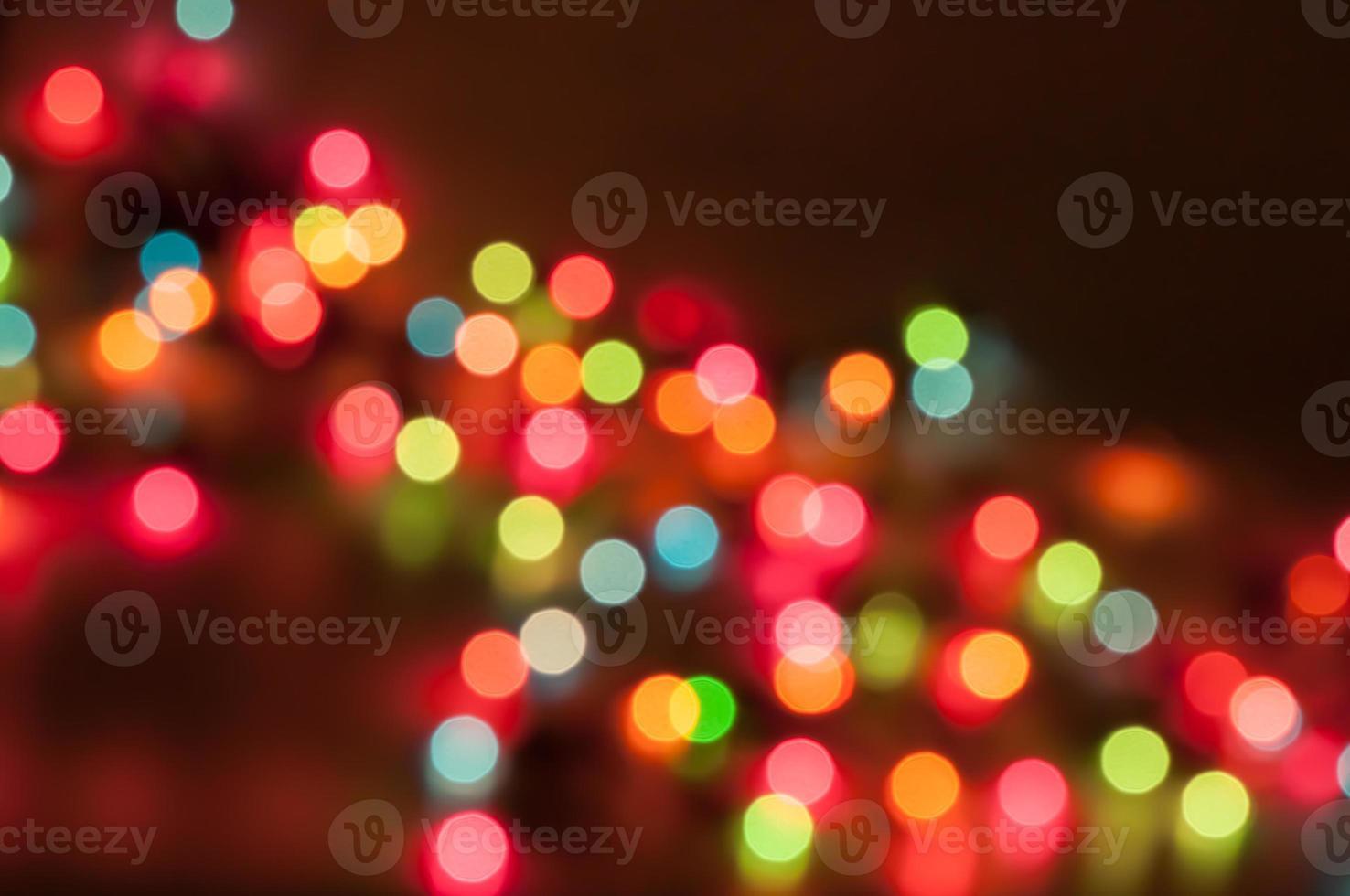 fundo bokeh da luz de natal foto