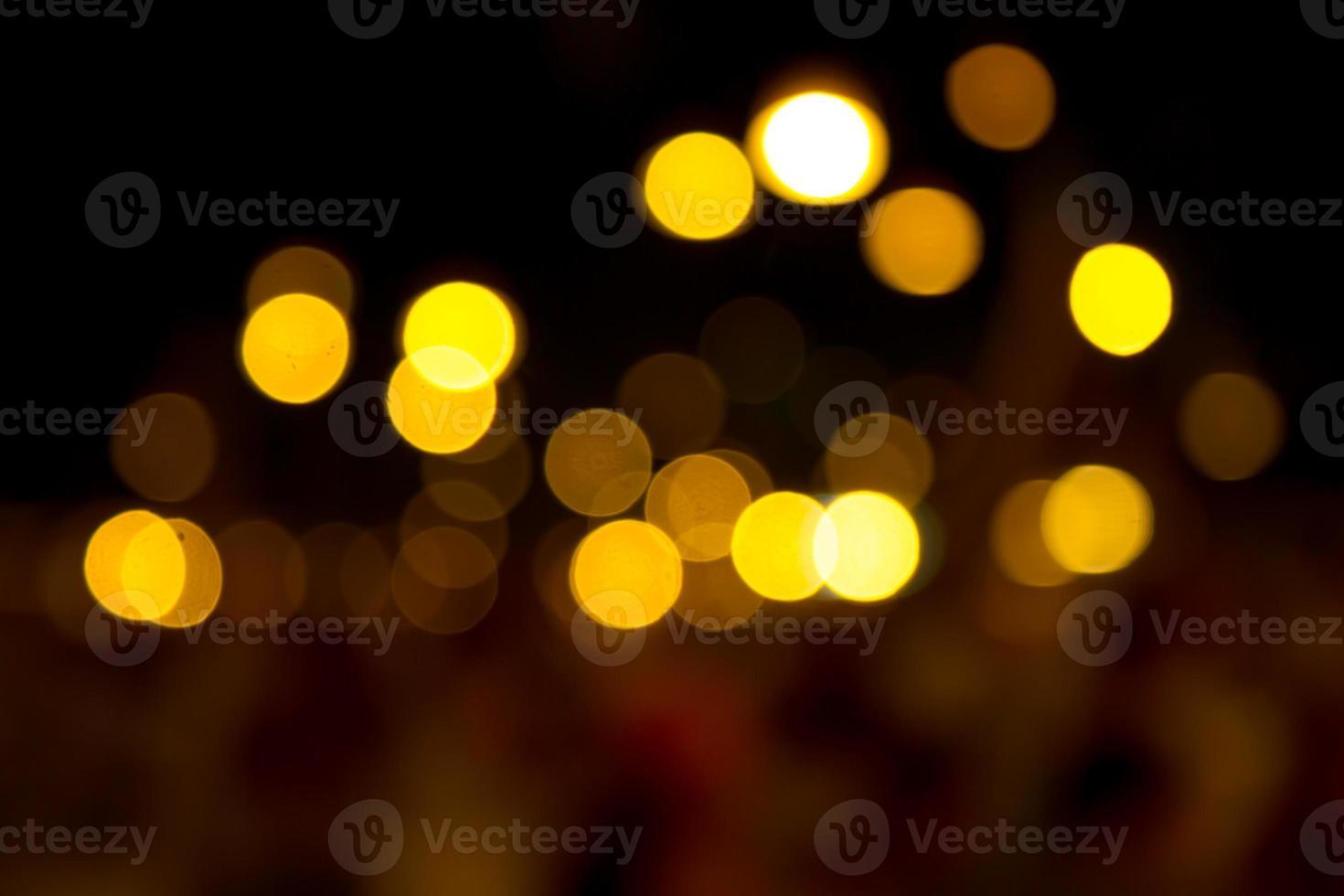 fundo bokeh abstrato da luz de natal foto