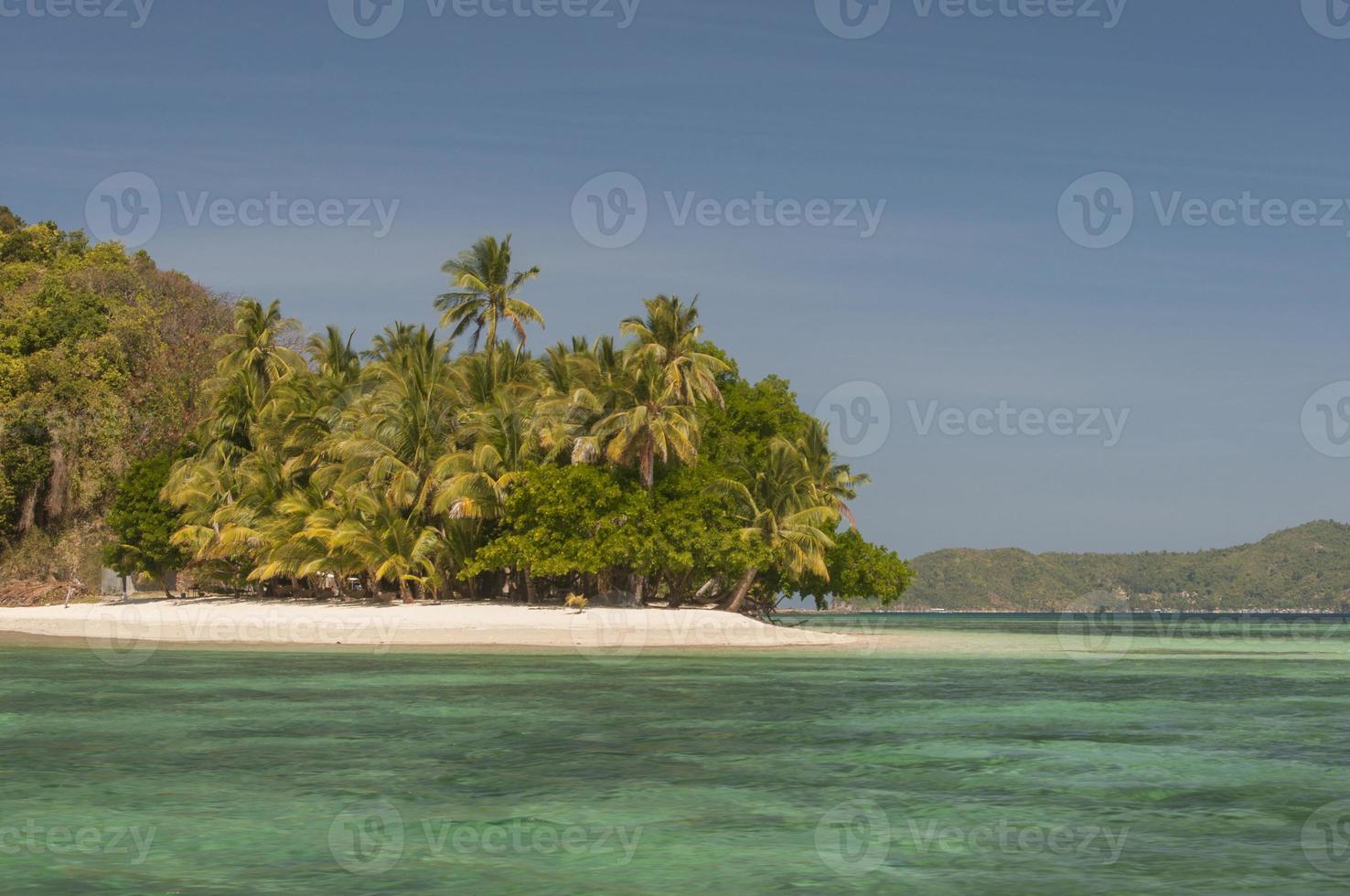 ilha de coral perto de port barton, palawan, filipinas foto