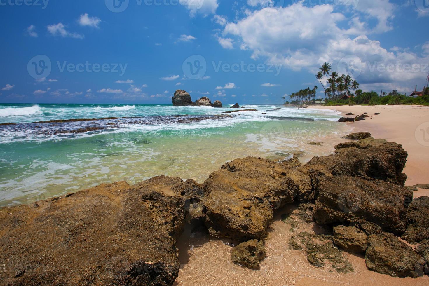 costa tropical no sri lanka foto