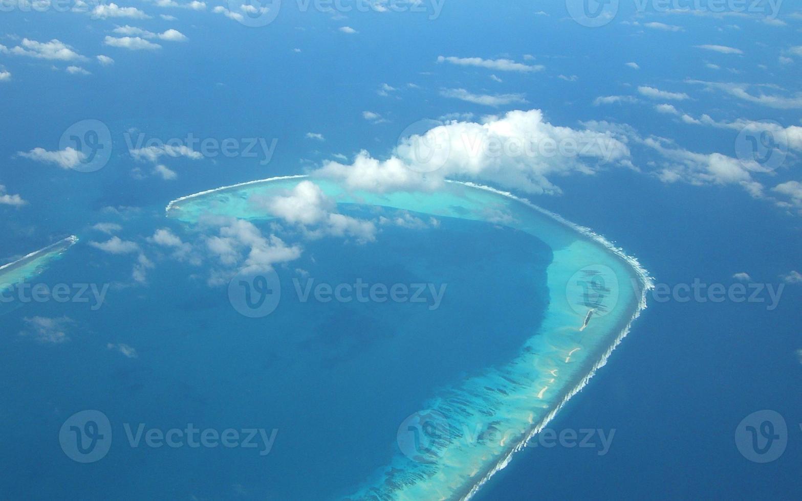 ilha tropical vista de cima foto