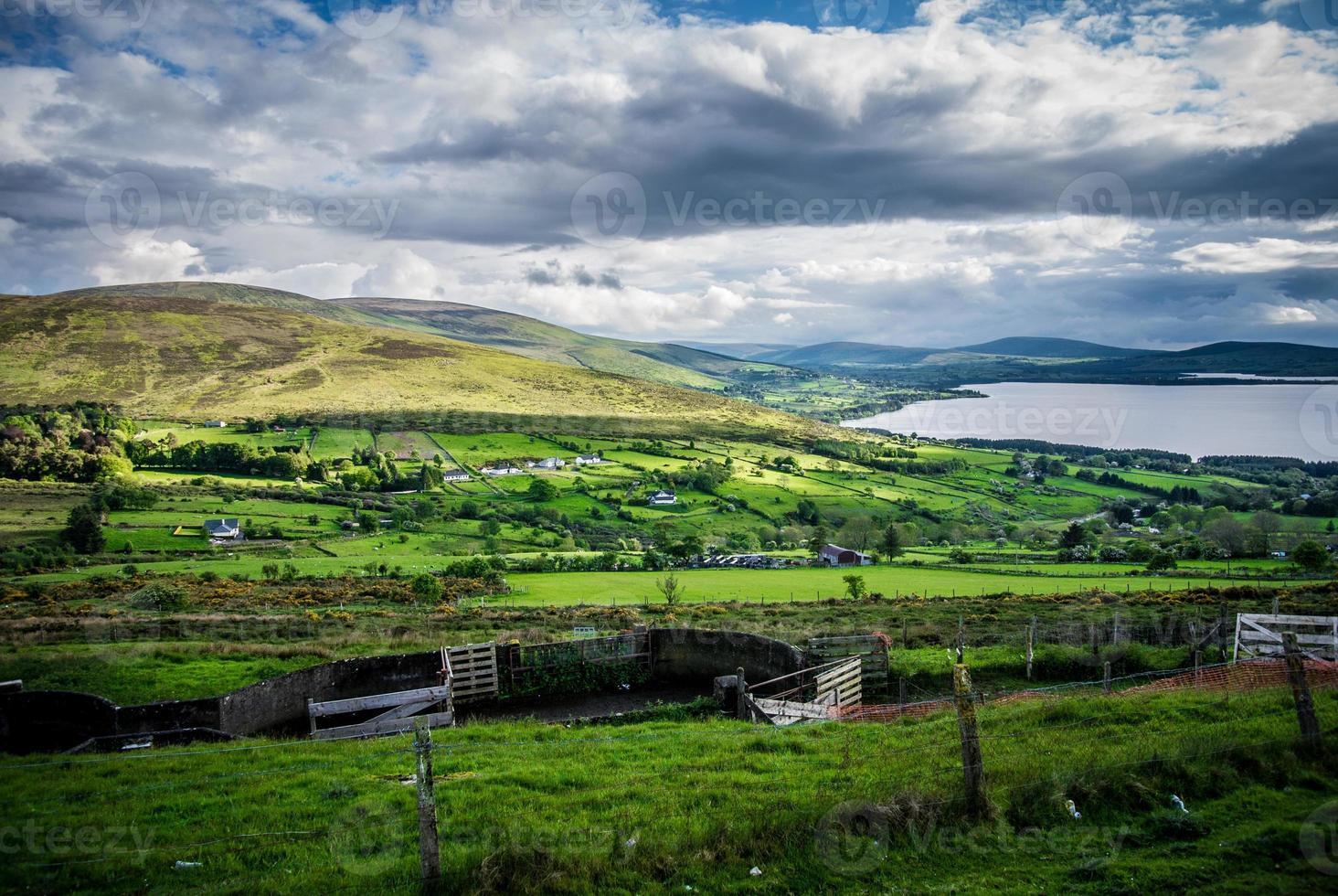 république d'irlande, comté de wicklow, montagne, lac, colline foto