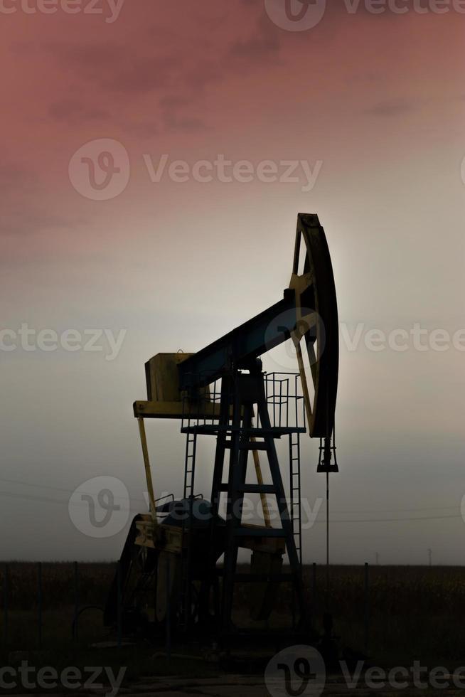 operação de poço de petróleo e gás foto