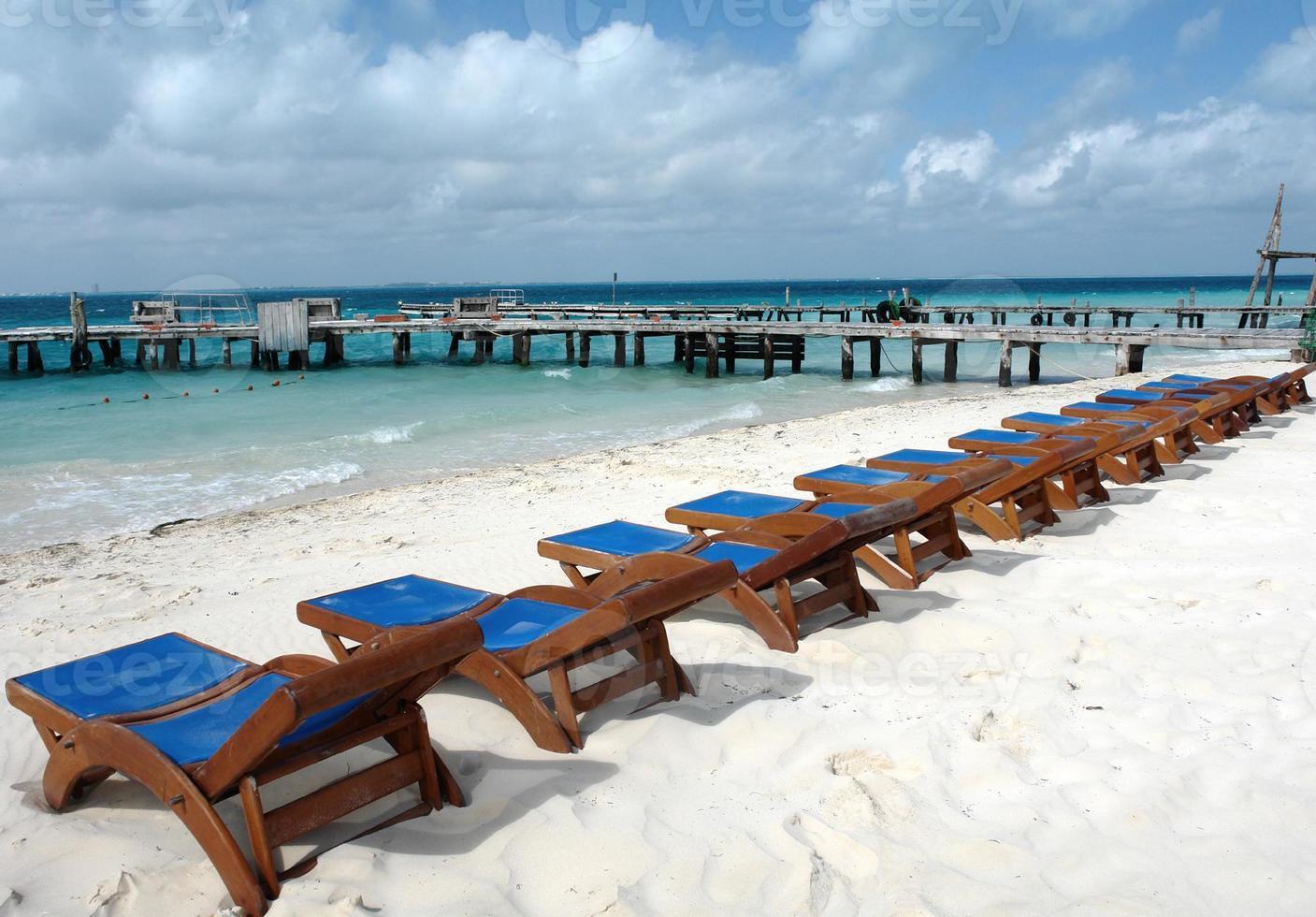 cadeiras de praia isla mujeres méxico foto