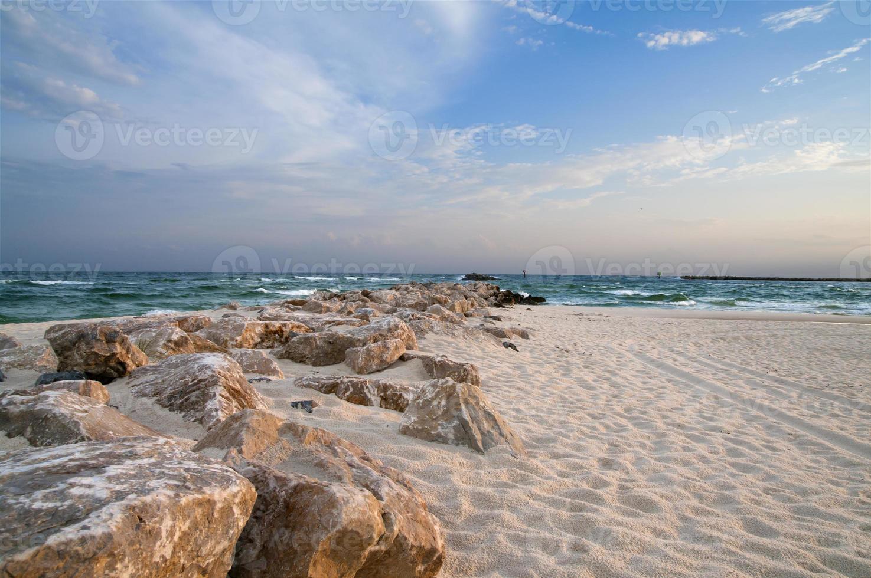praia da costa do golfo foto