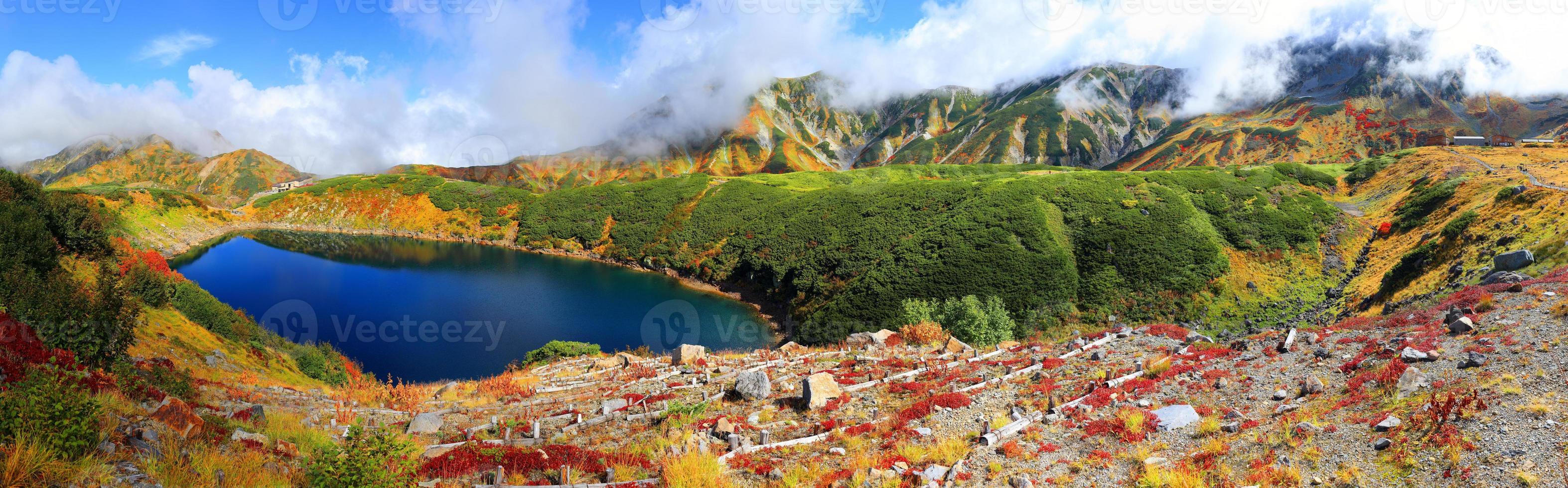 a rota alpina tateyama kurobe do outono foto