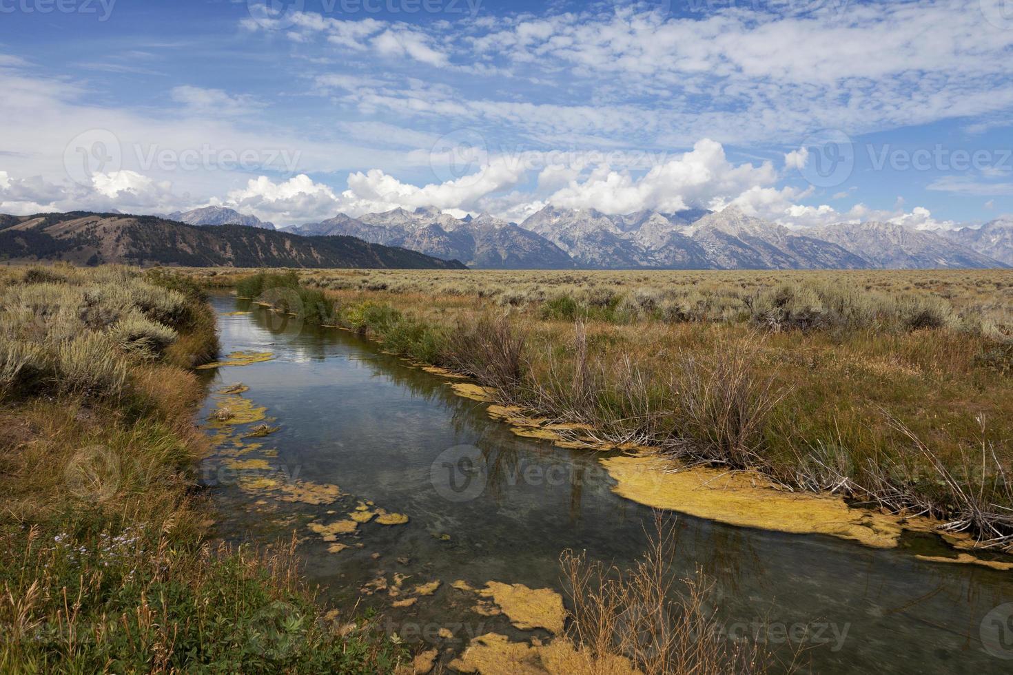 bela paisagem do parque nacional grand teton foto