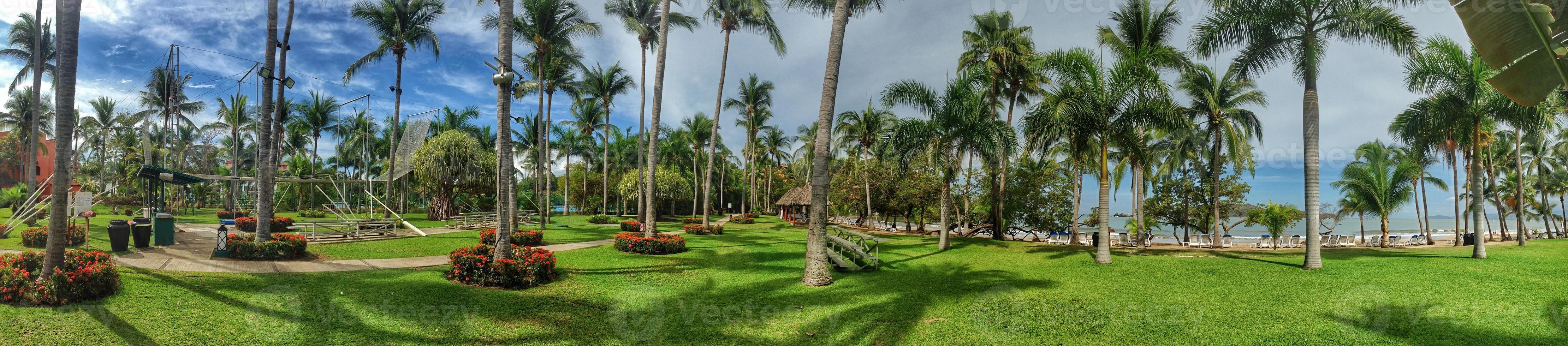 panorama de um resort mexicano foto