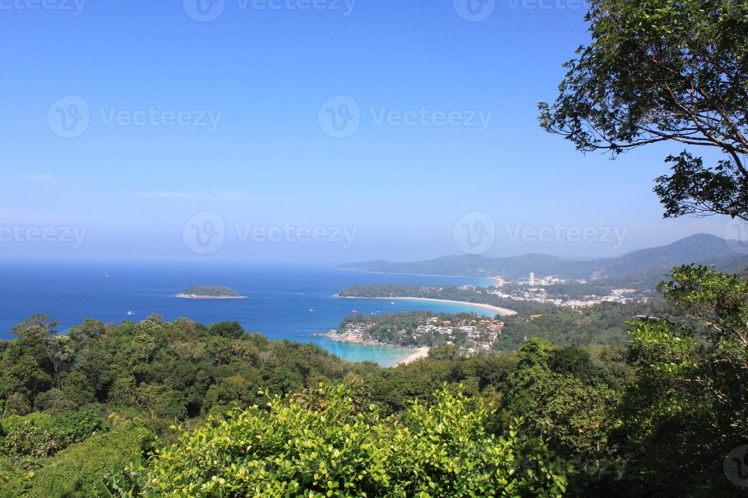 paisagem tropical. vista do ponto de vista foto