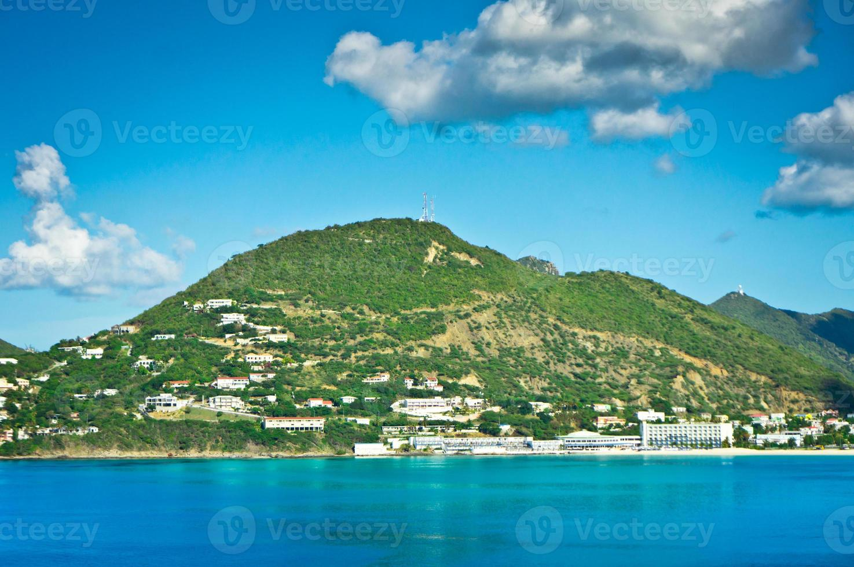 panorama de philipsburg, saint martin, caribe islan foto