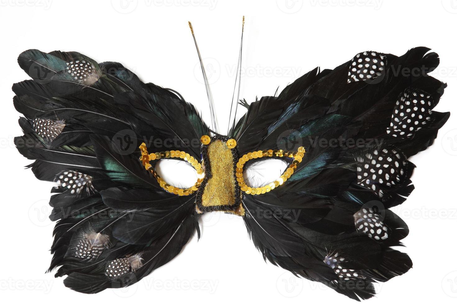 máscara de pena de borboleta foto