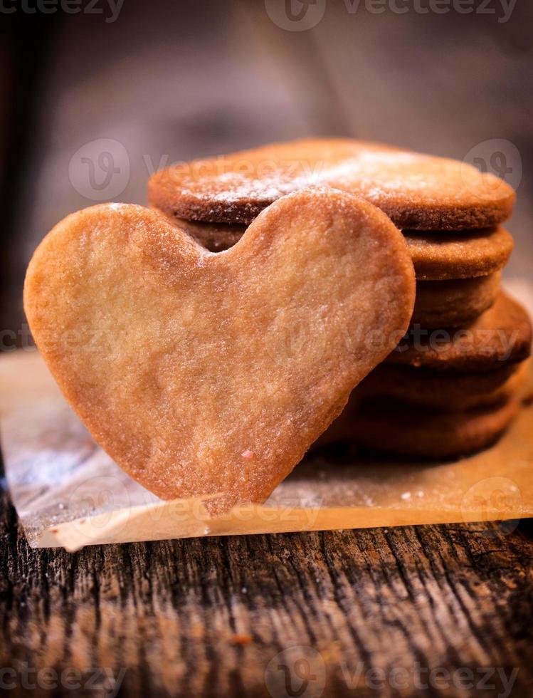 biscoitos de coração foto