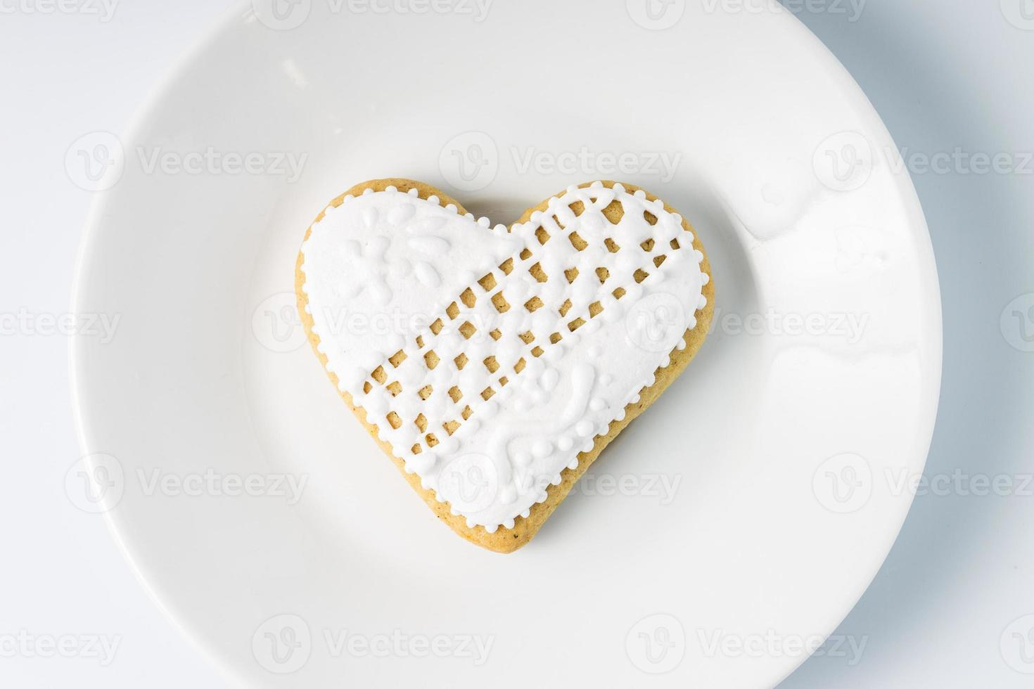 formato de coração de biscoito de gengibre. presente para o dia dos namorados foto