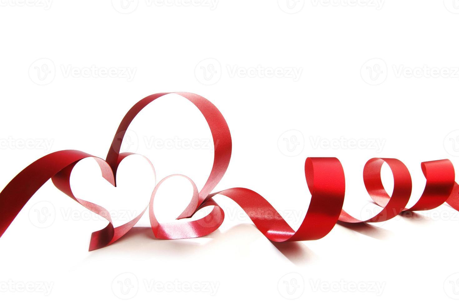 fitas de coração vermelho foto