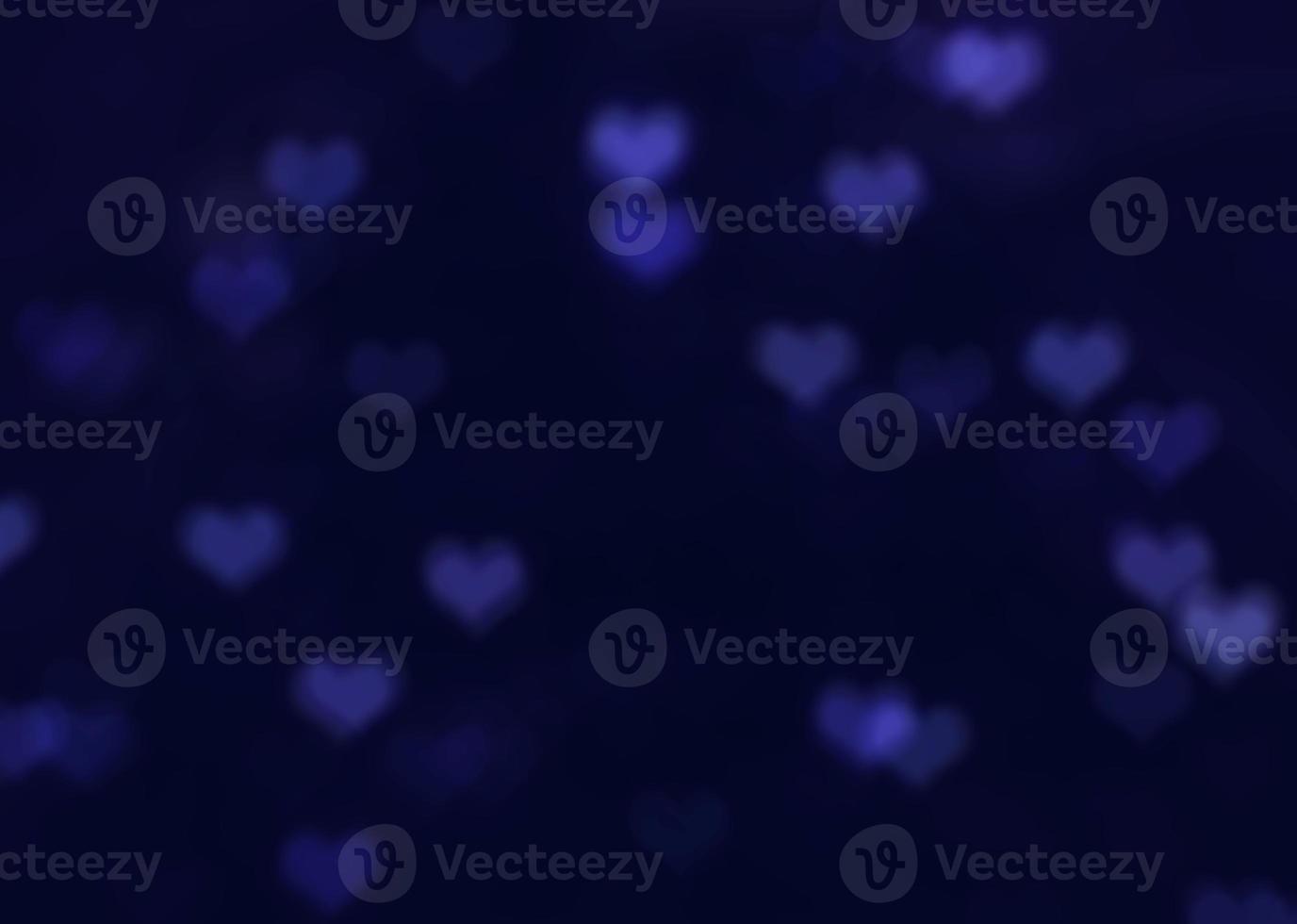 fundo bokeh coração azul foto