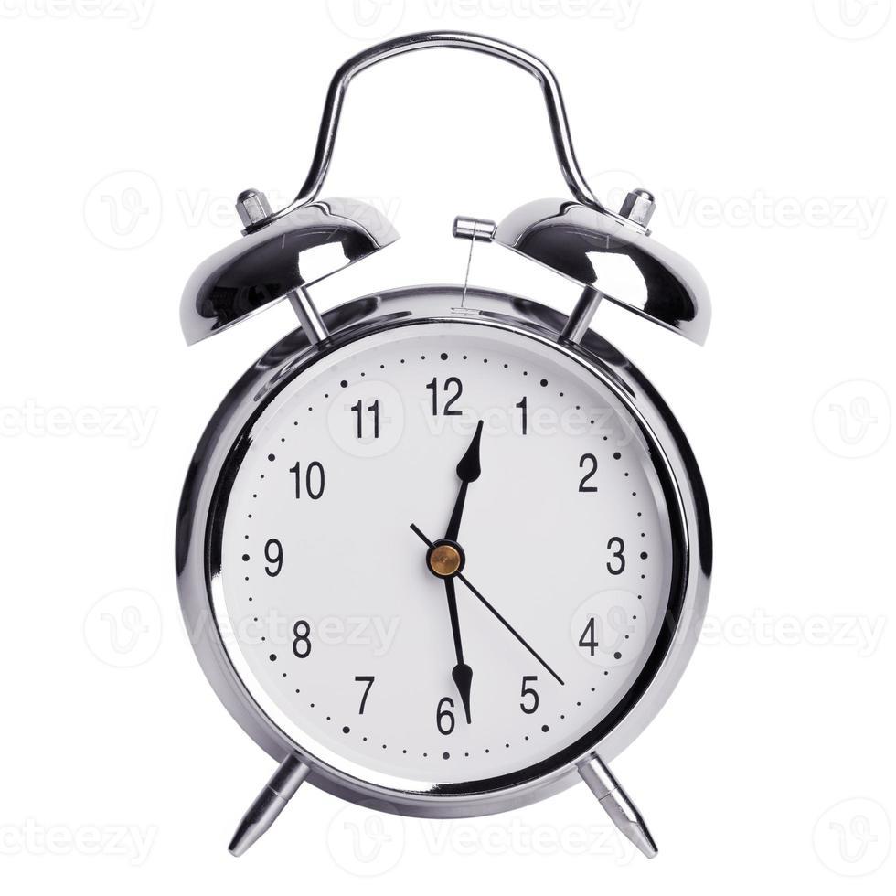 meia-noite e meia em um despertador foto
