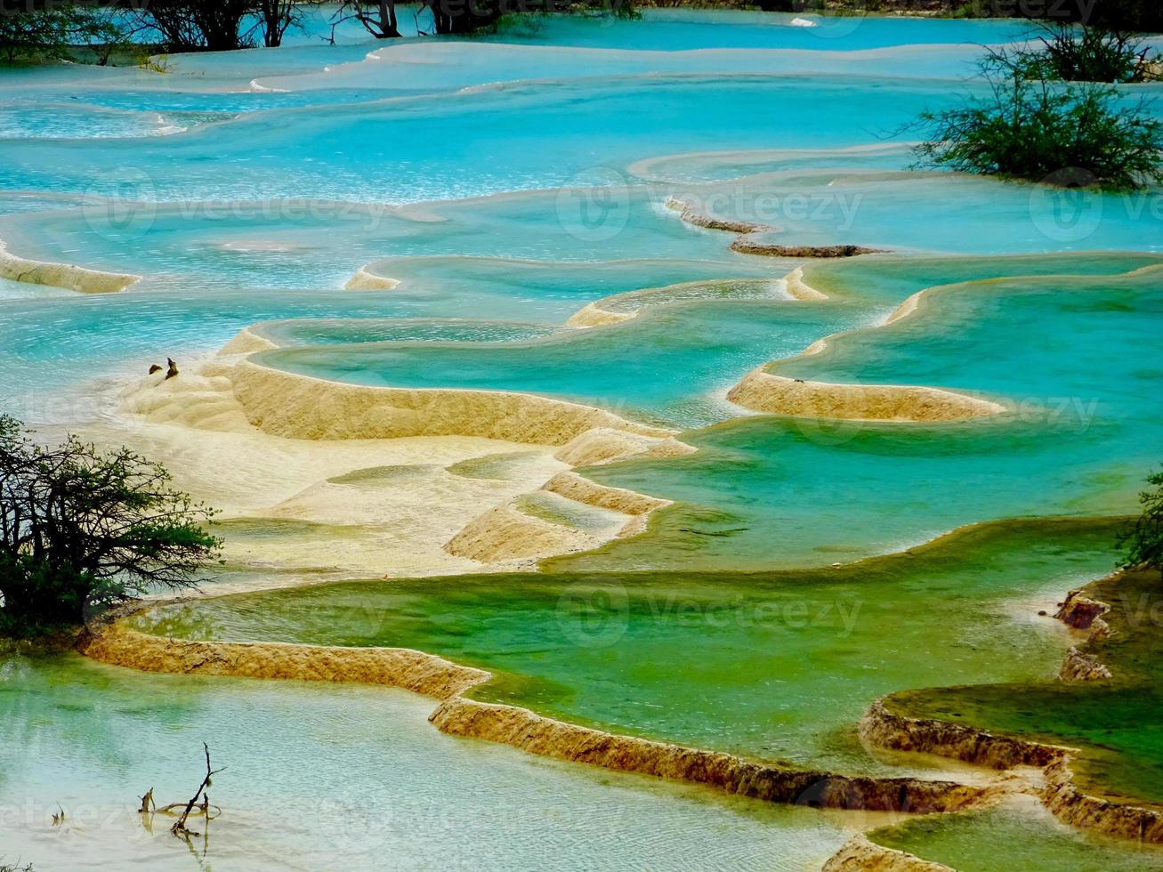 água do parque nacional de Jiuzhaigou foto