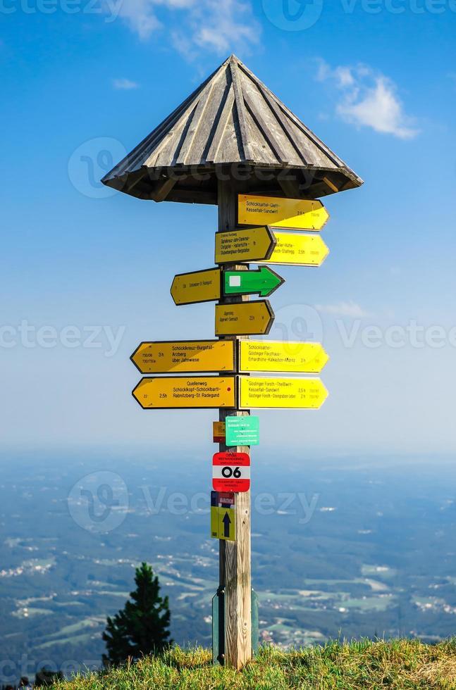 placa de sinalização turística foto
