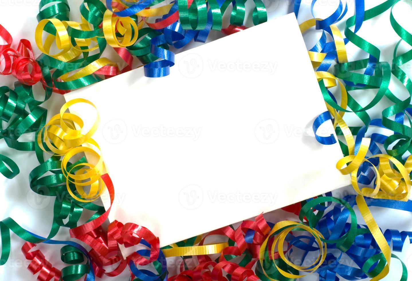 notecard de fita encaracolada foto