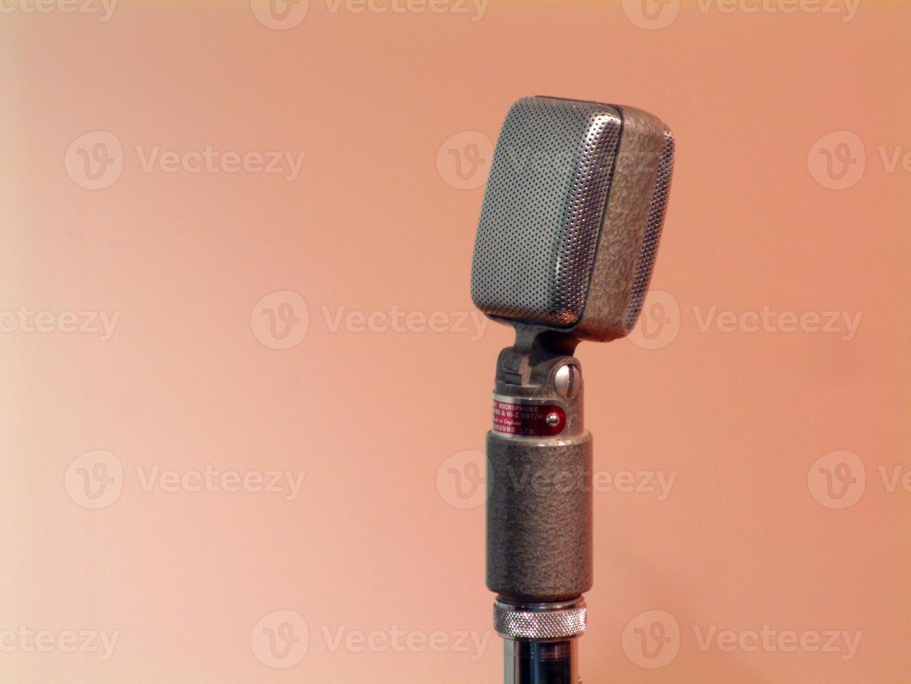 microfone fita retro foto