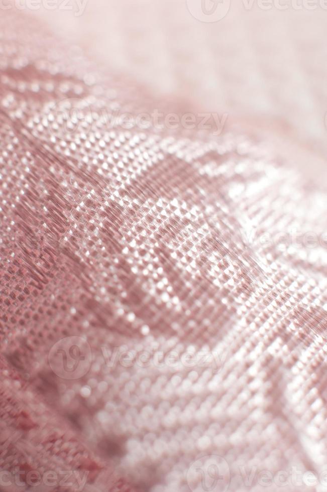 detalhes do close up do laço rosa foto
