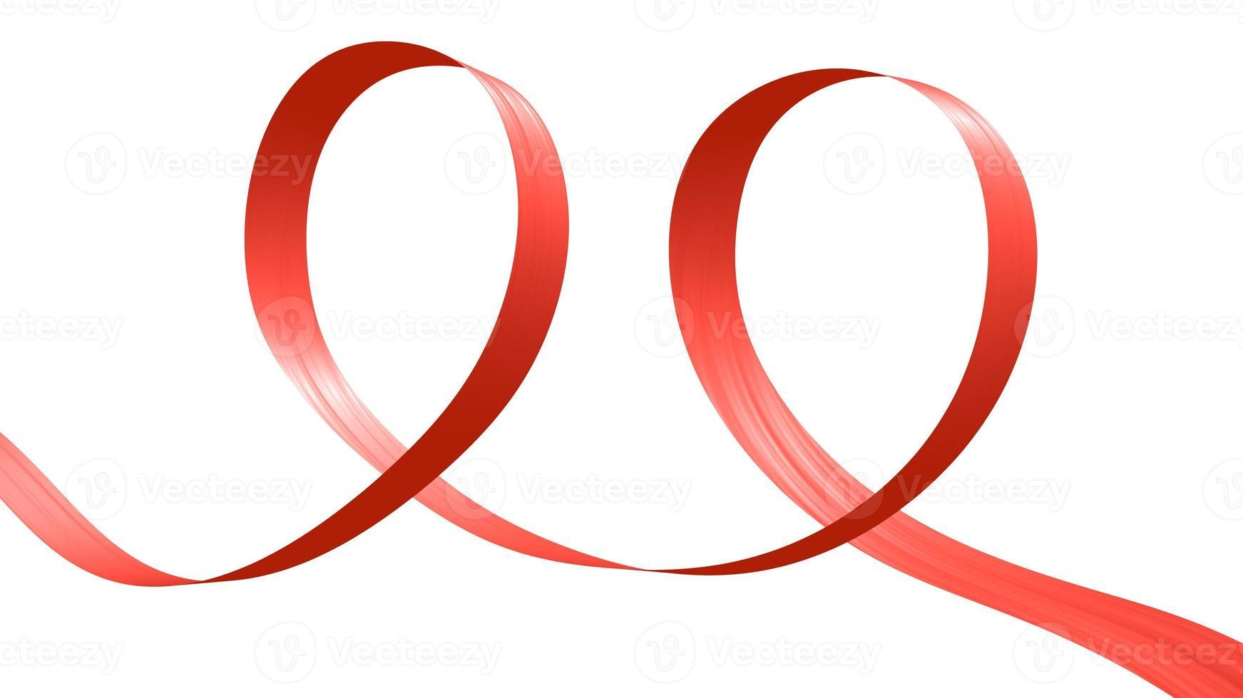 fita vermelha em forma de duas voltas foto