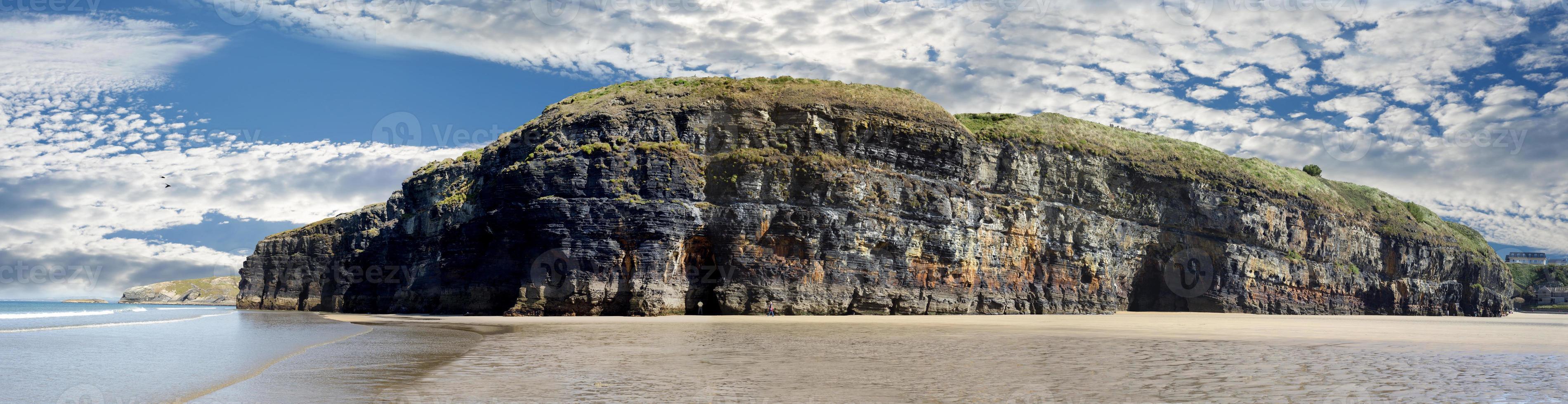 panorama dos penhascos ballybunion foto