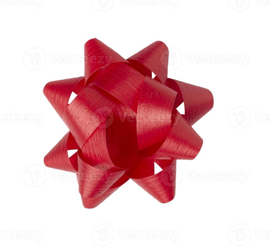 decoração de laço de fita vermelha sazonal de aniversário de natal foto