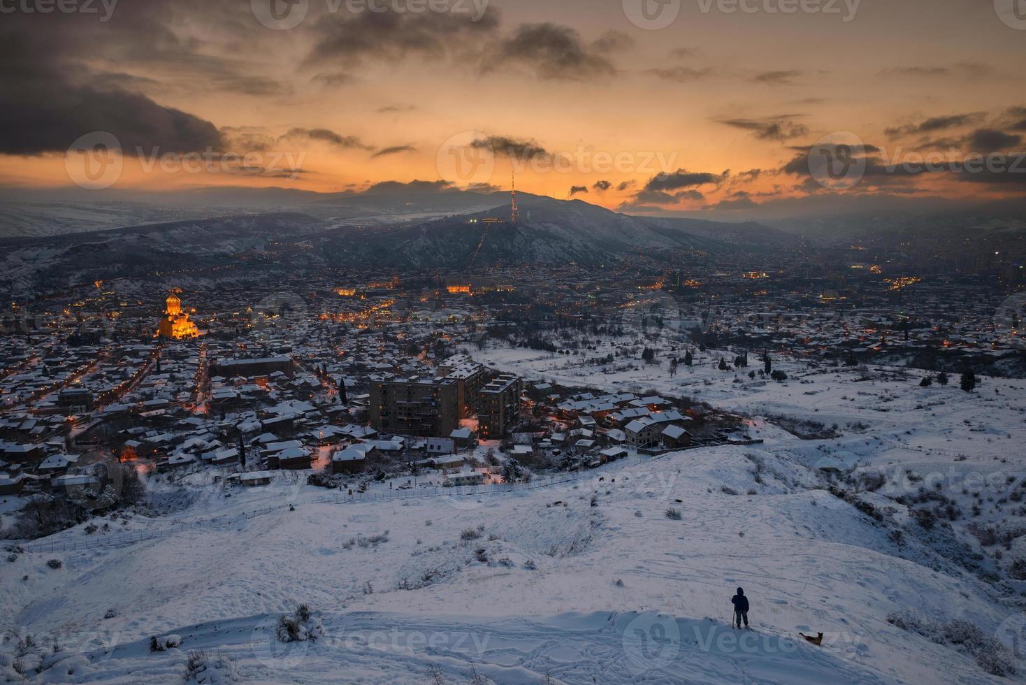 vista panorâmica de tbilisi foto