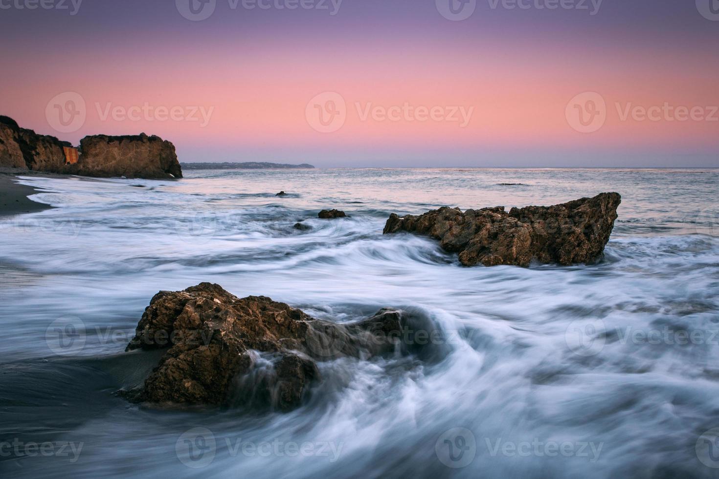 paisagem marítima de malibu foto