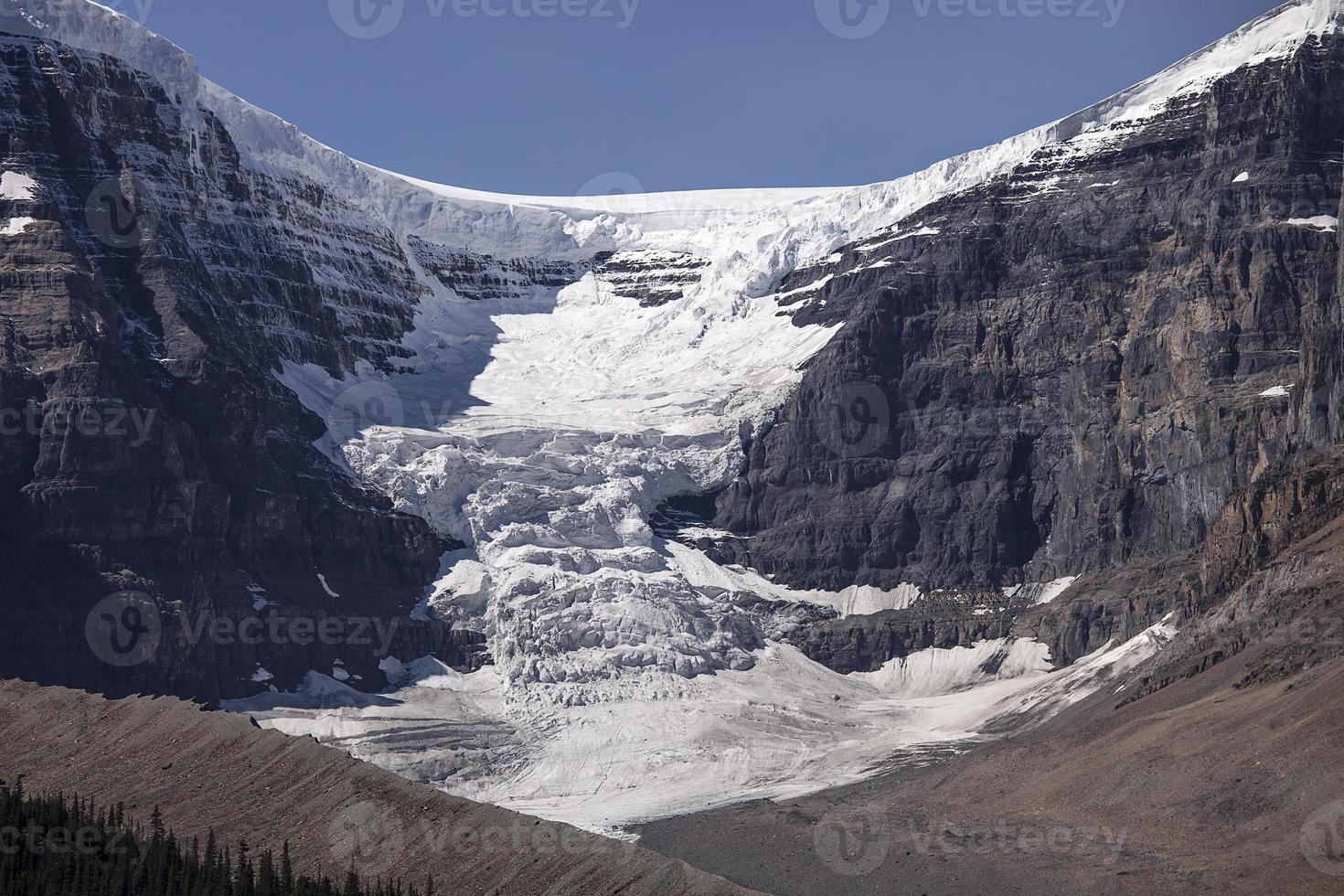 geleira cúpula e cúpula de neve foto