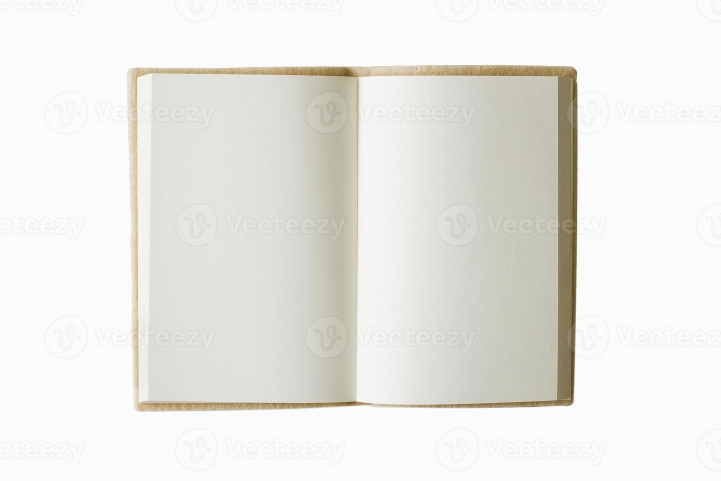 livro em branco aberto foto