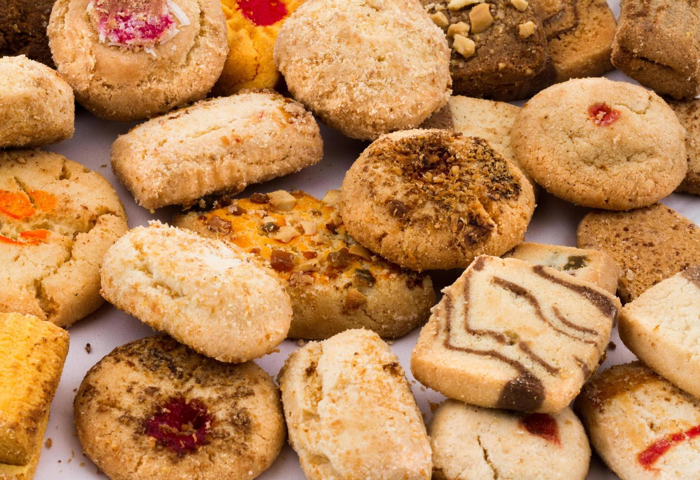 biscoitos caseiros indianos frescos foto