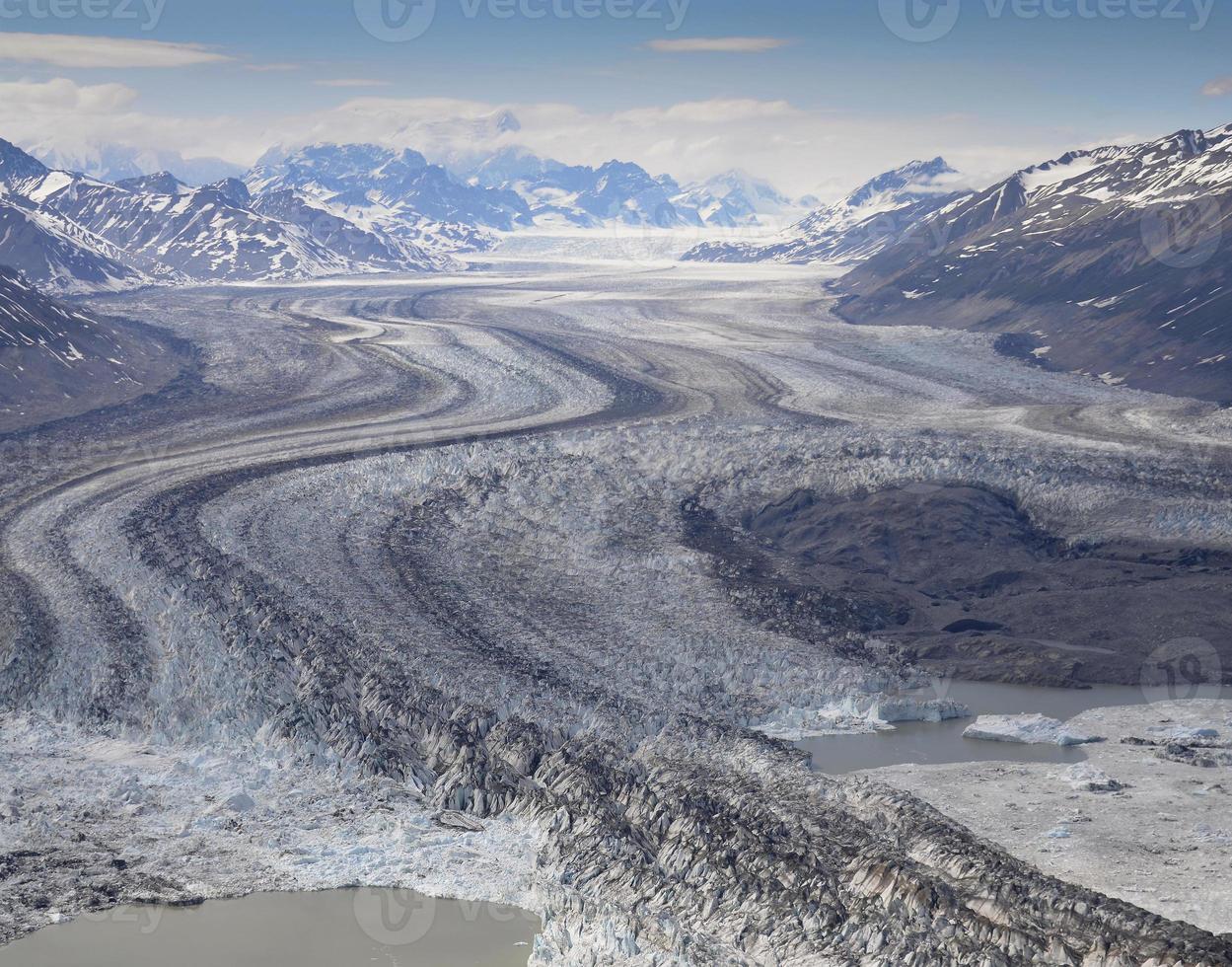 geleira, parque nacional kluane, canadá foto