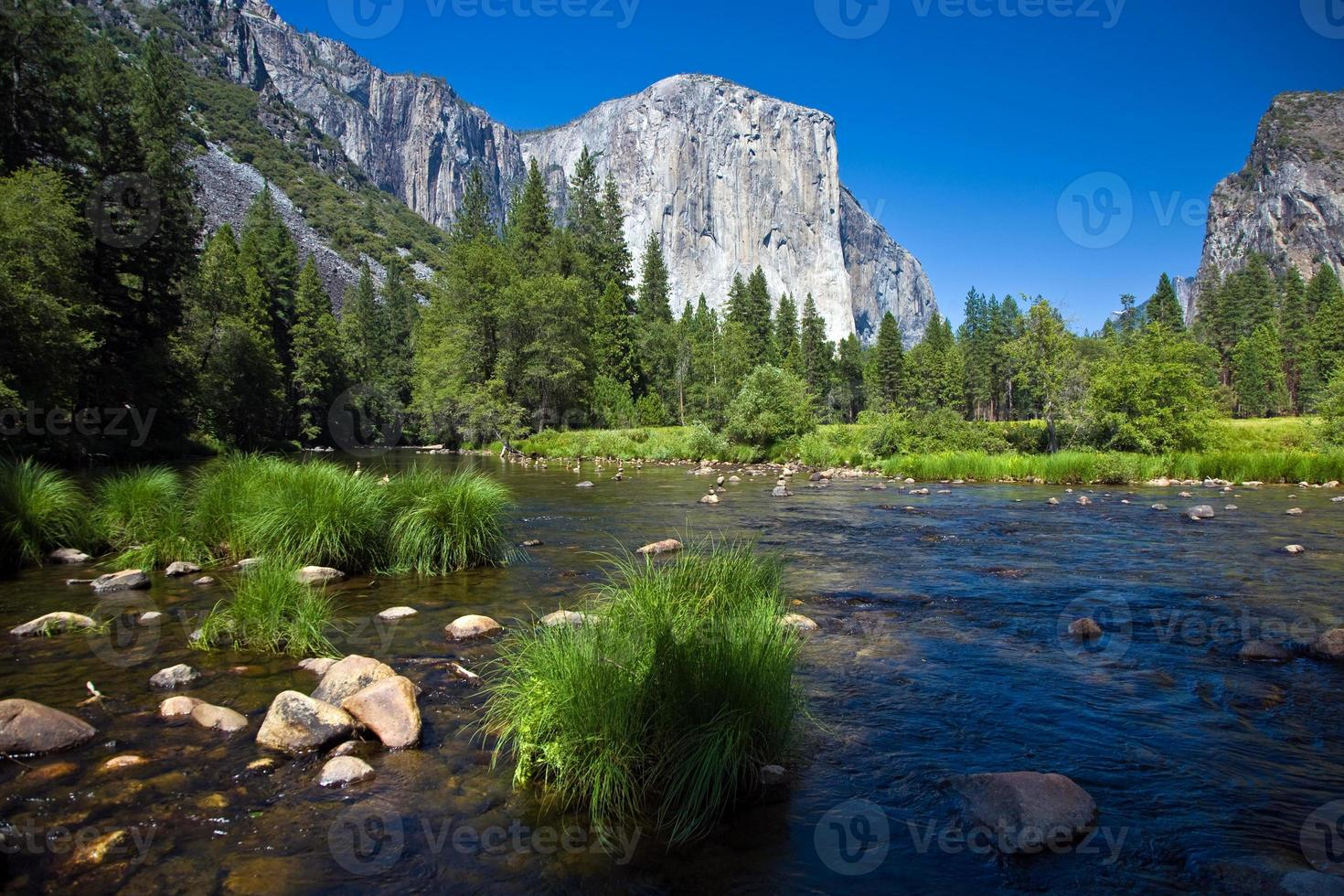 vista para o planalto do foguete ocidental do parque nacional de Yosemite foto