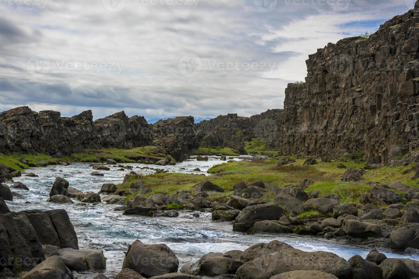 Parque Nacional de thingvellir na Islândia foto