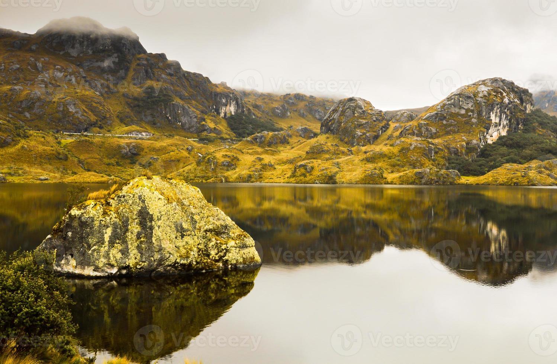 incrível paisagem do Parque Nacional de Cajas, Equador. foto
