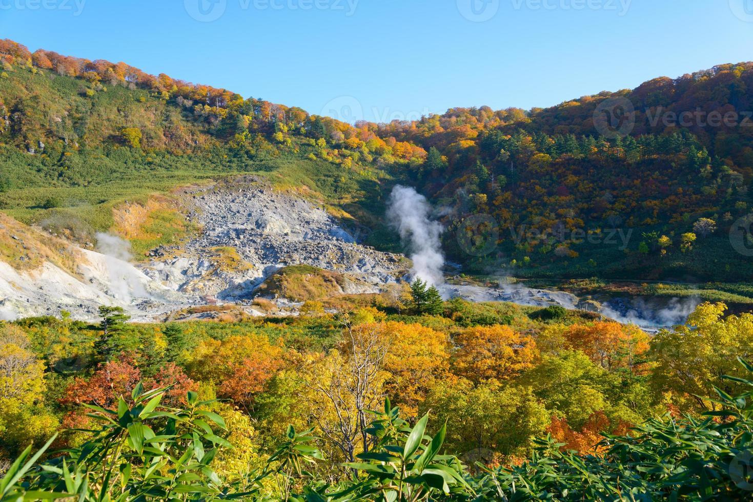 folhagem de outono de mt.hachimantai foto