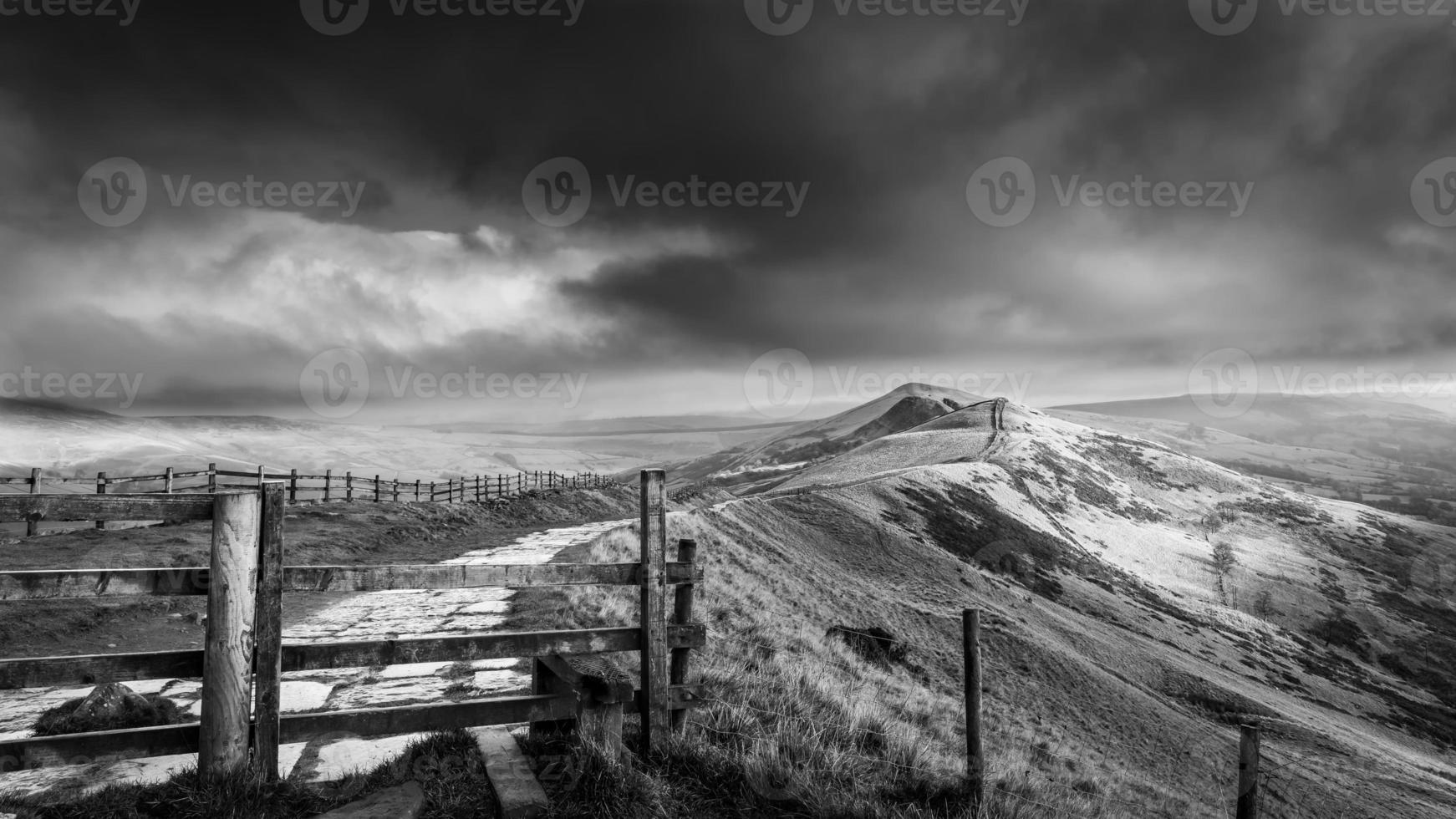 vistas de mam tor derbyshire foto