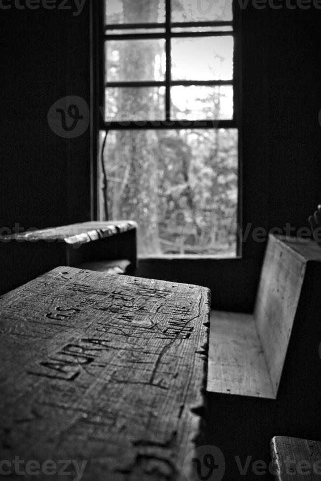 banco da velha escola foto